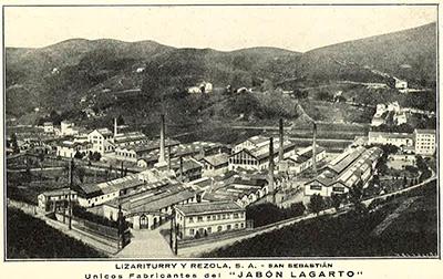 1914---LAGARTO---Fabrica-de-San-Sebastian_byn