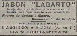 1922---LAGARTO---Anuncio-en-Prensa-La-Acción---LA-ACCION-16-08-1922_extracto