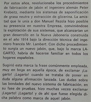 1964---Lizariturry-y-Rezola---Centenario-de-su-Fundación---Anécdota-Lagarto---Nacimiento-1914_extracto