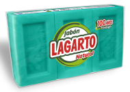 Jabón Lagarto Natural 3X250gr