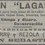 1922 - LAGARTO - Anuncio en Prensa La Acción - LA ACCION 16-08-1922 Extracto