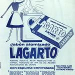 1962 - LAGARTO - Jabón atomizado - Anuncio Detergente Máquina Espuma Controlada