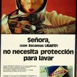 1972 - LAGARTO - Escamas - Anuncio LECTURAS - No necesita proteccion para lavar