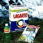 1990 - LAGARTO - Foto Escamas Detergente y Fregasuelos sobre hierba